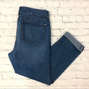 NYDJ Cropped Ankle Jeans Medium Wash Mom Jeans